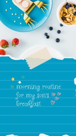 Cute Dish Compositions on Plates Instagram Story – шаблон для дизайна