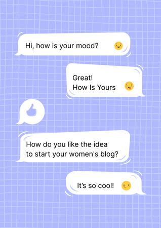 Plantilla de diseño de Girl Power Inspiration with Online Chatting Poster