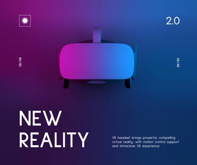 Ontwerpsjabloon van Facebook van Modern Virtual Reality Glasses Ad