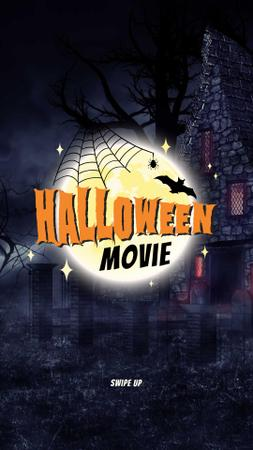 Szablon projektu Halloween Movie Invitation with Dark Scary Castle Instagram Story