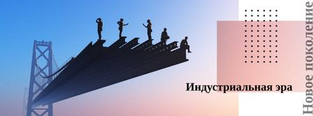 Builders on constriction site Facebook cover – шаблон для дизайна