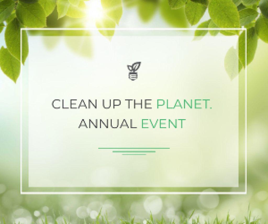 Ontwerpsjabloon van Medium Rectangle van Clean up the Planet Annual event