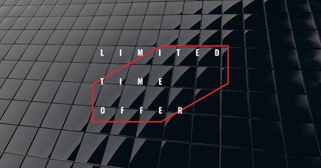 Special Offer Announcement on Black Glass Texture Facebook AD Tasarım Şablonu