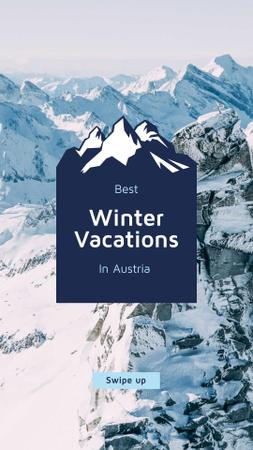 Modèle de visuel Winter Tour Snowy Mountains View - Instagram Story