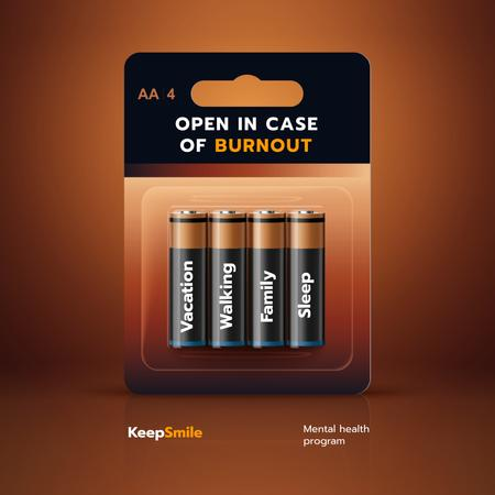 Funny Joke with Set of Batteries Instagram – шаблон для дизайну