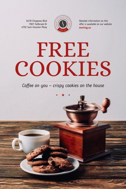 Plantilla de diseño de Coffee Shop Promotion with Coffee and Cookies Tumblr