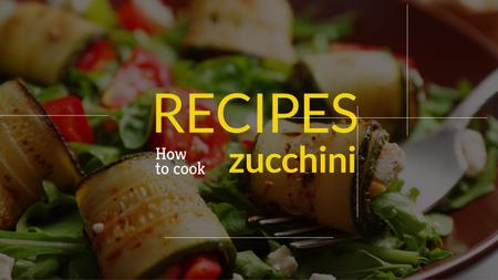 Recipe book for preparing zucchini Youtube Modelo de Design