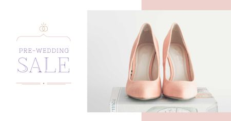 Template di design Pre-Wedding Sale Offer with Female Shoes Facebook AD