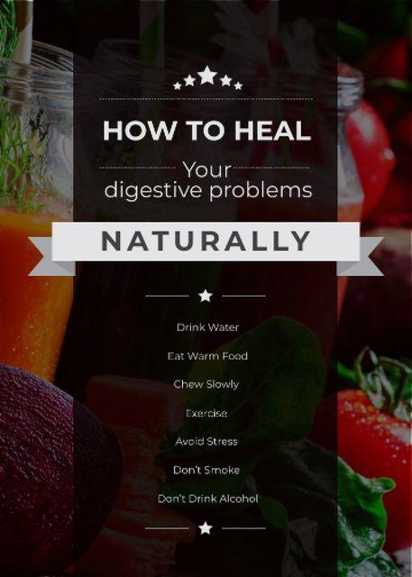 Designvorlage Healthy Food Raw Vegetables and Fruits für Flayer