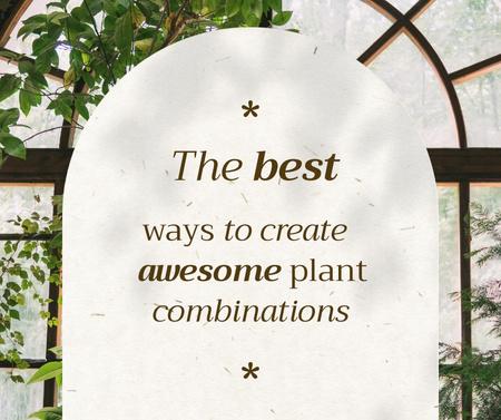 Plantilla de diseño de Plant Combinations with Beautiful House Tree Facebook