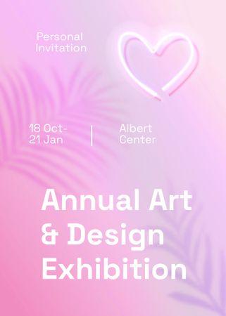 Plantilla de diseño de Art and Design Exhibition Announcement Invitation