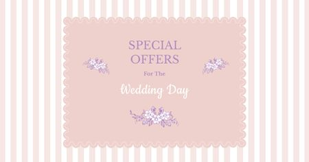Special Wedding Day Offers Facebook ADデザインテンプレート