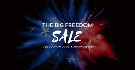 Template di design Big Sale on Independence USA Day Facebook AD