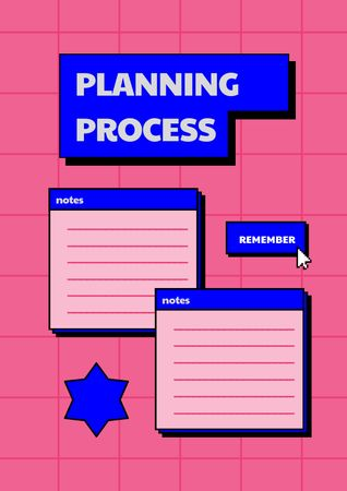Platilla de diseño Planning Process with Notes Schedule Planner
