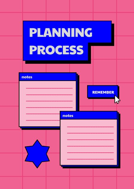 Planning Process with Notes Schedule Planner – шаблон для дизайна