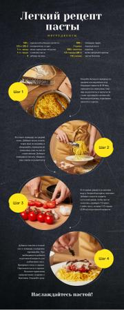 Food Infographics How to cook pasta Infographic – шаблон для дизайна