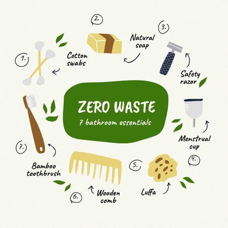 Zero Waste Concept with Sustainable Products Instagramデザインテンプレート