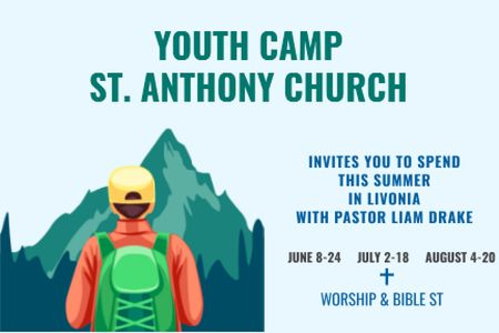 Designvorlage Youth religion camp of St. Anthony Church für Gift Certificate