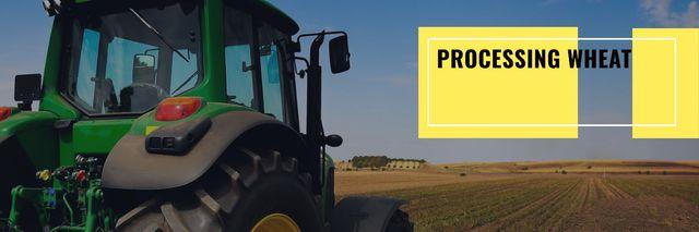 processing wheat banner Twitter Modelo de Design