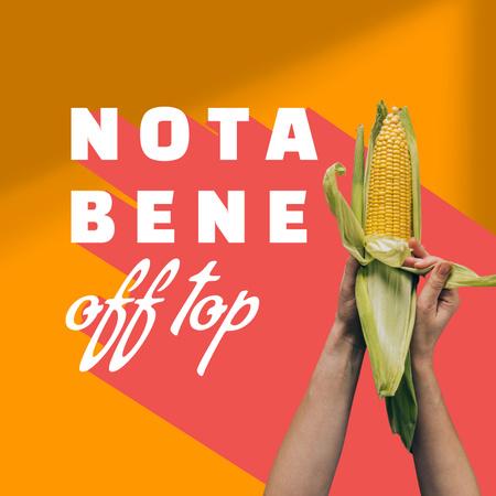 Fresh Corn in Hands Album Coverデザインテンプレート