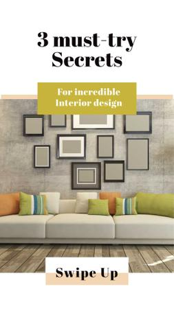 Modèle de visuel Secrets of Interior Design with Stylish Room - Instagram Story