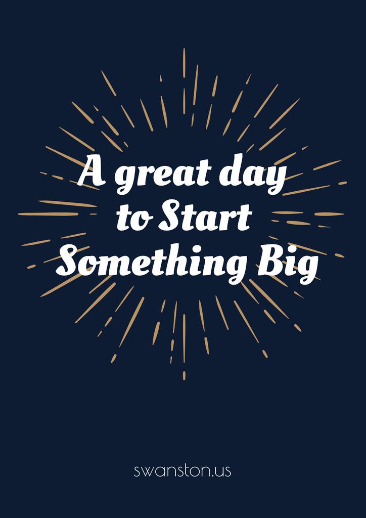 Citation about great day to start something big — Создать дизайн