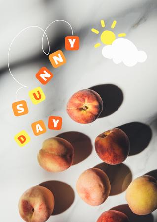 Summer Inspiration with Fresh Pears Poster – шаблон для дизайна