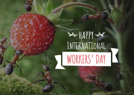 Happy International Workers Day Postcard Modelo de Design