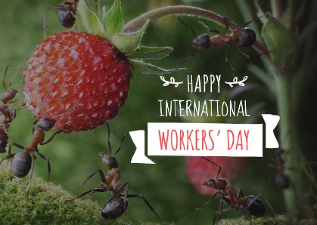 Template di design Happy International Workers Day Postcard