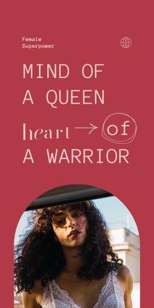 Plantilla de diseño de Inspirational Quote with Beautiful Young Woman Graphic
