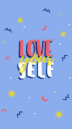 Self Love quote Instagram Story – шаблон для дизайна