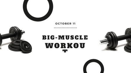 Workout offer with Dumbbells FB event coverデザインテンプレート