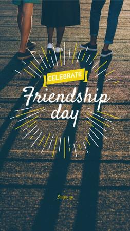 Friendship Day Announcement with Group of Friends Instagram Story – шаблон для дизайна