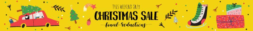 Christmas Sale Announcement Car Delivering Tree — Create a Design