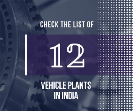 Vehicle plants in India poster Large Rectangle Design Template