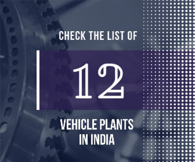 Vehicle plants in India poster Large Rectangle Modelo de Design