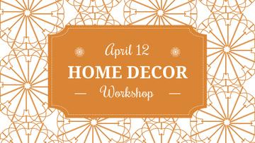 Home decor Workshop ad with floral texture