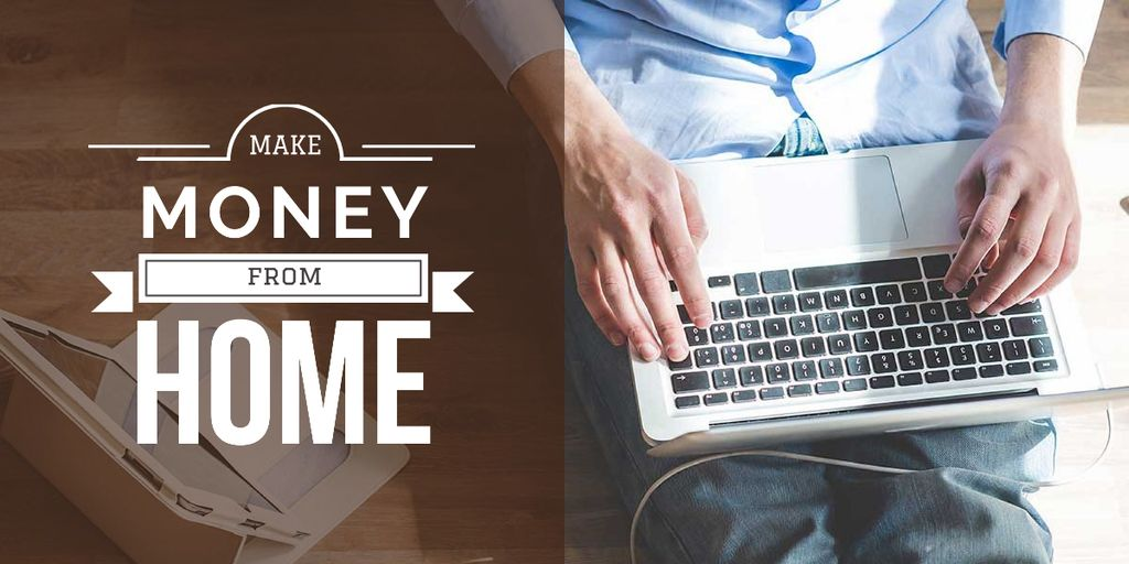 make money at home poster Imageデザインテンプレート