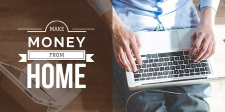 Plantilla de diseño de make money at home poster Image