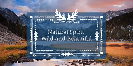 Natural spirit with Scenic Landscape Twitter Modelo de Design