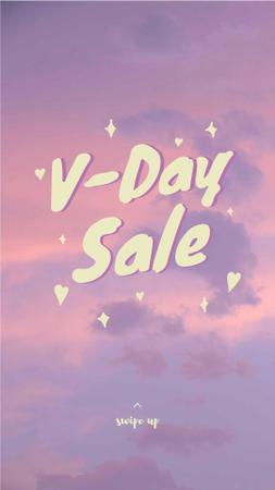 V-day sale on pink Sky Instagram Story Modelo de Design