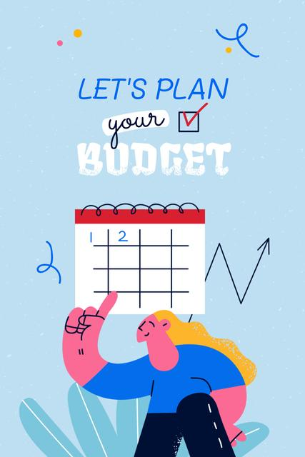 Plantilla de diseño de Girl planning Financial Budget Pinterest
