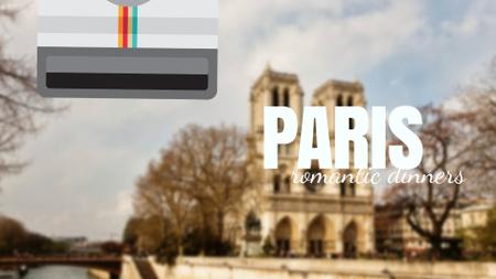 Tour Invitation with Paris Notre-Dame Full HD video Modelo de Design