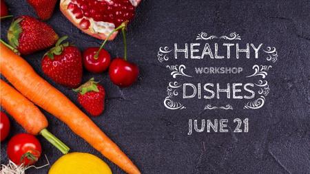 Modèle de visuel Local Food Vegetables and Fruits - FB event cover