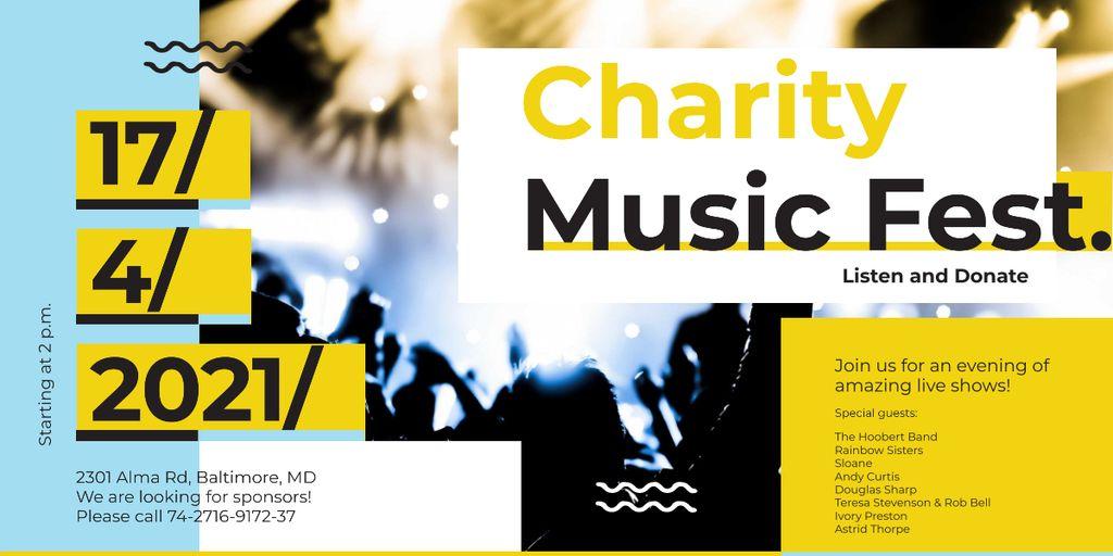 Charity Music Fest Image – шаблон для дизайна