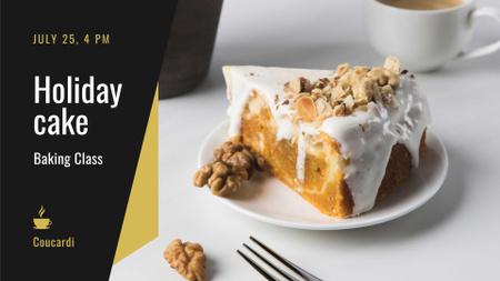 Ontwerpsjabloon van FB event cover van Masterclass offer with sweet Cake