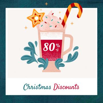 Christmas Offer Cocoa with Candy Cane