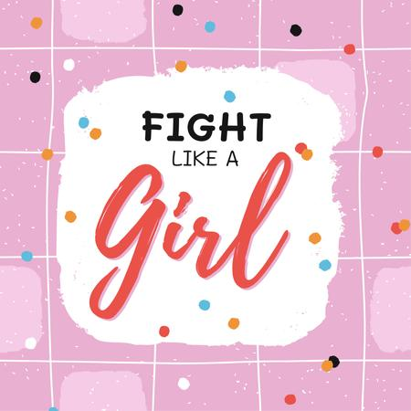 Girl Power Inspiration on Bright Pattern Instagram Modelo de Design