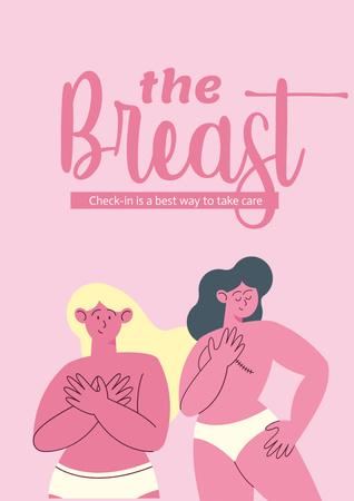 Breast Cancer Awareness Month Announcement Poster – шаблон для дизайну