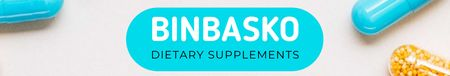 Dietary Supplements manufacturer profile with Pills LinkedIn Cover Modelo de Design